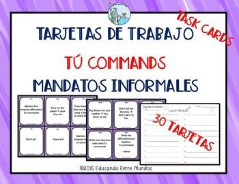 Mandatos Commands Tu commands task cards