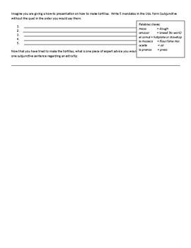 Mandatos:  How to make tortillas  Realidades 3 ch. 3