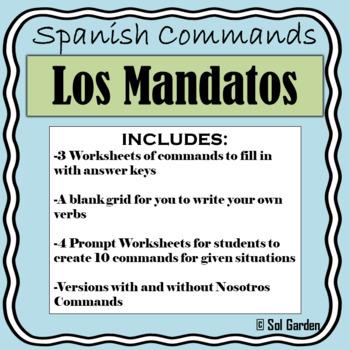 Mandatos - Spanish Informal/Formal Commands Worksheets and