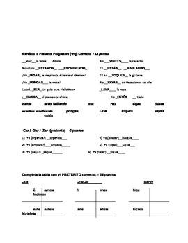 Mandatos, incluyendo objetos directos and -ing / Commands incl: dir obj. and ing