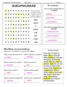 ASD2 Cap9: Mandatos informales (reg & irreg tú commands in Spanish)