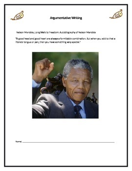 Mandela Argumentative Writing Unit