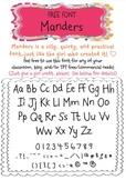 Manders Font