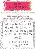 MandersGlam Free Font