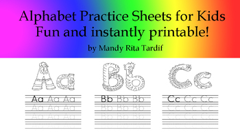 Mandy's Loony Letter Alphabet Practice Sheets