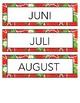 Årets måneder - Dagtavle - Bursdagskalender