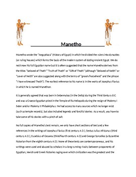 Manetho  Article and Assignment