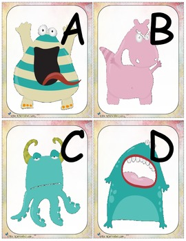 Alphabet monstre (alphabet cards and activities)