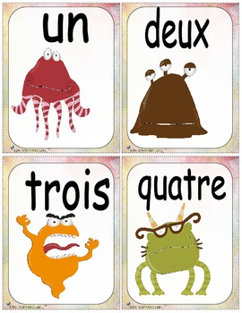 Nombres monstres  (number cards math activities)