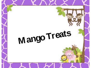 Mango Treats: Orff Lesson with Writing Activity