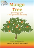 Mango tree coloring pages + Fun questions and facts