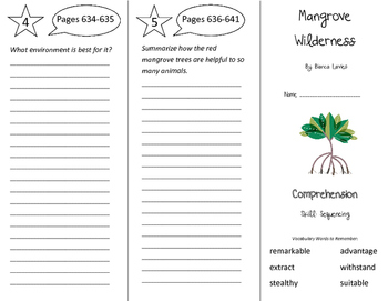 Mangrove Wilderness Trifold - Storytown 4th Grade Unit 5 Week 4