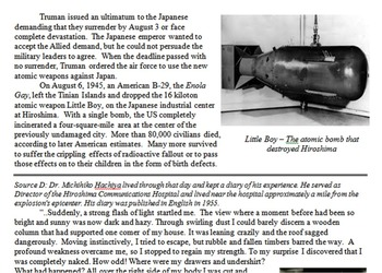 Manhattan Project & Atomic Bomb Primary & Secondary Source Assignment