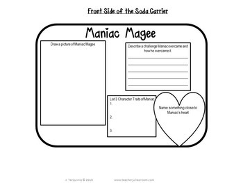 Maniac Magee Project - Book in a Bottle!