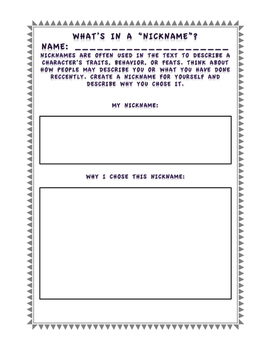 Maniac Magee Activity Packet