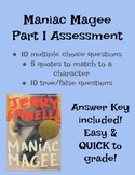 Maniac Magee Assessment (Part I, Ch 1-21)