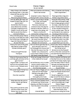 Maniac Magee Battle of the Books Study Guide