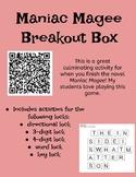 Maniac Magee Breakout Box
