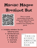 Maniac Magee Breakout Box