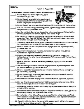 Maniac Magee     Chapter Summaries and Objective Tests