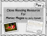 Maniac Magee Close Read Resource