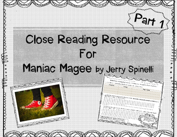 Maniac Magee Close Read Resource