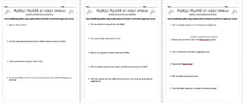 Maniac Magee Comprehension Questions