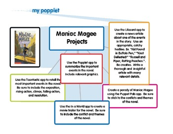 Maniac Magee End of Book iPad Project Ideas