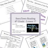 "6th Grade Storytown ""Maniac Magee"" Entire Unit - Vocab, Centers, & More"