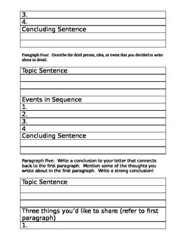 Maniac Magee Friendly Letter Writing Assignment