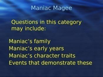 Maniac Magee Quiz Show PowerPoint Game