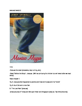Maniac Magee- Guided Reading Group/Literature Circle Notes