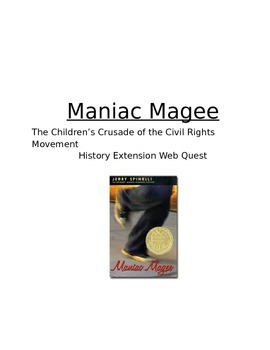 Maniac Magee History Extension Webquest