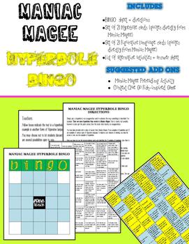 Maniac Magee Hyperbole BINGO (Common Core Aligned)