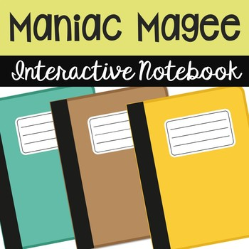 Maniac Magee Interactive Notebook Novel Unit Study Activities, Vocabulary