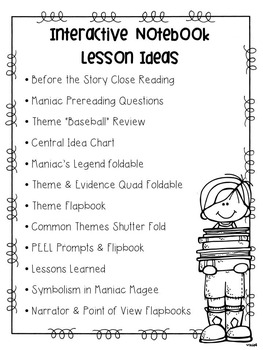 Maniac Magee Interactive Notebook Pages