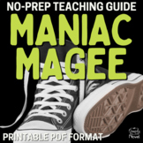Maniac Magee Complete Unit - Handouts, Lessons PACKET    DISTANCE LEARNING