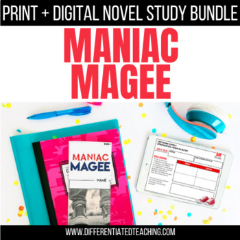 Maniac Magee Foldable Novel Study Unit
