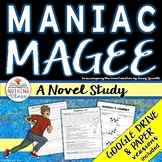 Maniac Magee Novel Study Unit: comprehension, vocabulary, activities, tests