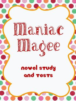Maniac Magee Novel Study and Tests