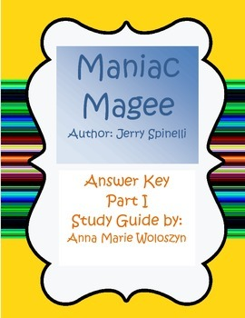 Maniac Magee Part I Answer Key