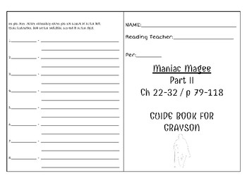 Maniac Magee - Part II - Grayson Characterization Booklet