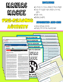 Maniac Magee Pre-Reading Center Activity (Common-Core Aligned)