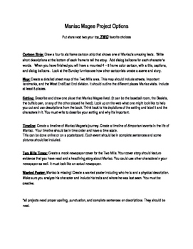 Maniac Magee Project Ideas