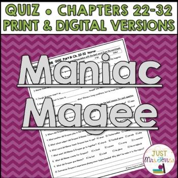 Maniac Magee Quiz 2 (Ch. 22-32)