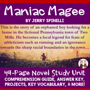 Maniac Magee Novel Study Unit