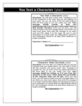 Maniac Magee Text Message Texting Activity