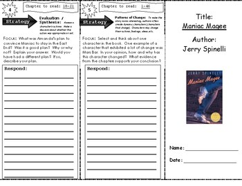 Maniac Magee Reading Trifold, Part I
