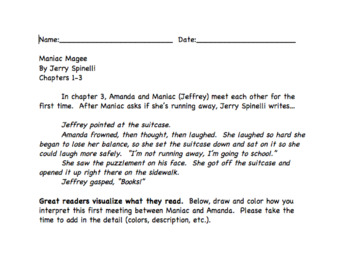 Maniac Magee Reading and Comprehension Checks