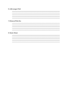 Maniac Magee Remedial English Setting Worksheet for Chapters 1-11